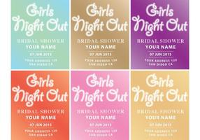 Vecteurs d'invitation Girls Night Out