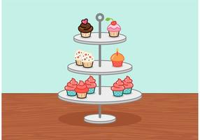 Little Cupcake Stand Vektor