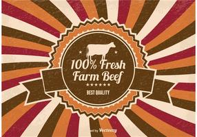 Fresh Farm Beef Illustration