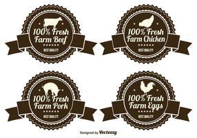 Etiquetas de produtos agrícolas frescos