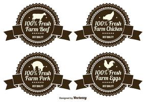 Etiquetas de productos agrícolas frescos