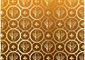 Guld Fleur De Lis Mönstervektor