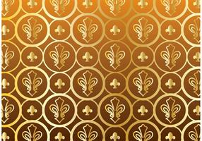 Gouden Fleur De Lis Patroon Vector