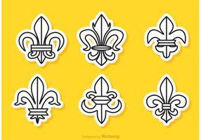 Fleur De Lis Sticker Vectors