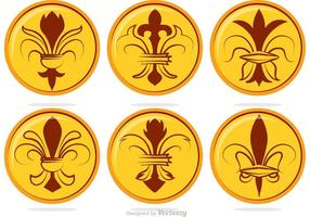 Vectores Fleur De Lis Badge