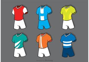 Varios vectores de deportes de fútbol Jersey