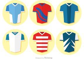 Sammlung von flachen Fußball Uniform Vektor