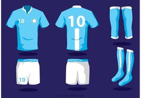 Vectores de fútbol uniforme con calcetines