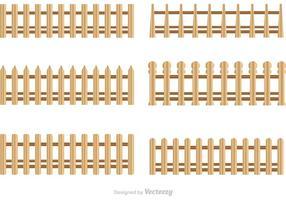 Vecteurs de clôtures en piquet en bois