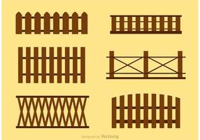 Vectores simples de la cerca de piquete