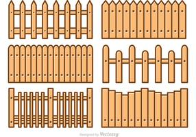 Picket Fence Cartoon Vectoren
