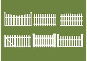 Straight Picket Fence Vectors