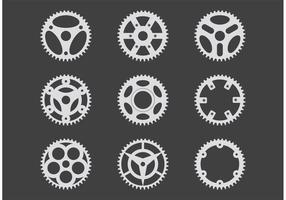 Vectores simples de la rueda dentada de la bici