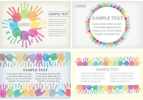 Handprint Card Vectors