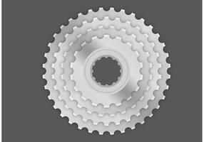 Vectores de la rueda dentada de la bici