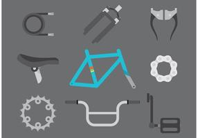 Piezas de la bicicleta del vector