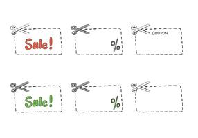 Free Scissors/ Coupon Vector Series