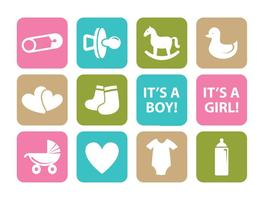 Baby element ikonuppsättning