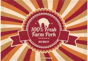Farm Fresh Pork Illustration