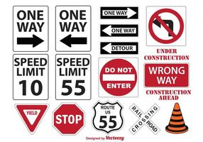 Miscellaneous Street Signs vector