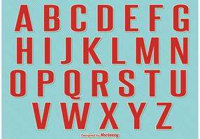 Alphabet Vintage Retro Style