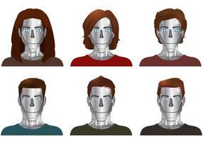 Vecteurs de robots humains