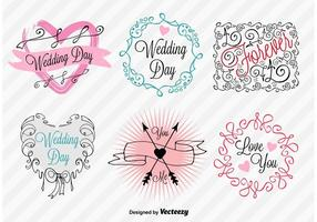 Hand-Drawn Wedding Day Signs