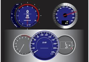Measurement Speedometer Tabs Vector
