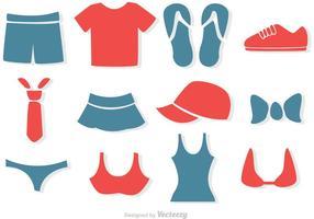 Ensemble de vecteurs de vêtements simples