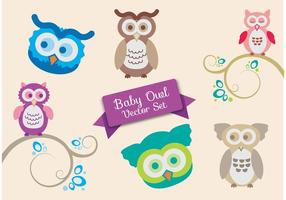 Baby douche vector set