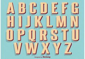 Alfabeto retro del estilo de la vendimia