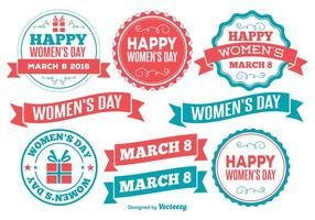 Womens Day Labels vector