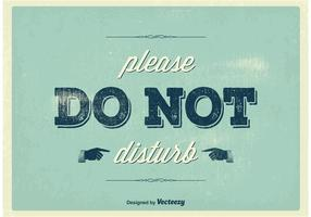 Weinlese stören nicht Plakat