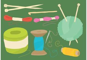 Balls Of Yarn And Craft Vector Tools