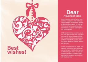Vector Card Best Wishes Heart