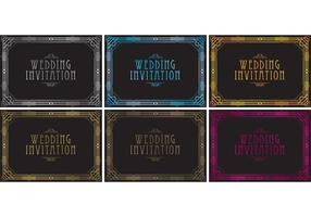 20's Wedding Invitation Vectors