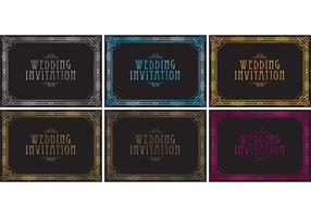 Vecteurs d'invitation de mariage des années 20