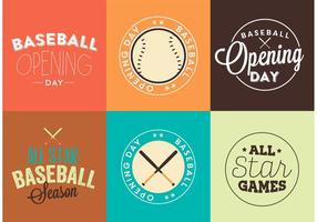 Honkbal Openingsdag Logo Vector Set