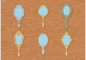 Antique Hand Mirrors Vector Free
