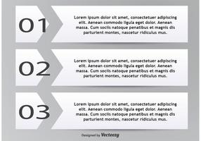 Numbered Text Boxes vector