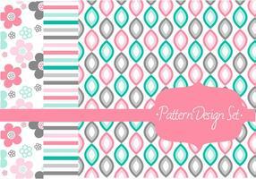 Stilvolles Muster Vektor Set