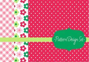 Retro Pattern Vector Design Set