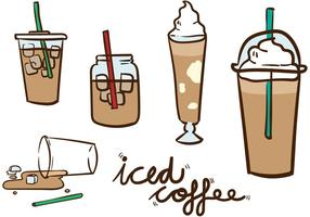 Pacote de vetores de café congelado