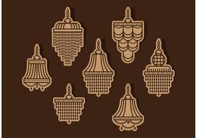 Vettori del candeliere di cristallo