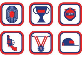 Track & Field Icon Vector Pack