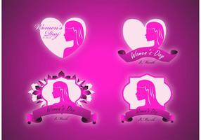 Vrouwen-label-vectoren