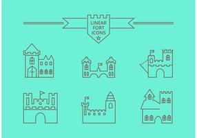 Iconos vectoriales Linear Fort gratis