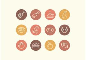 Free Line Food Vector Icon Set