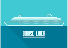 Line Cruise Liner Vector