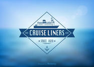 Free Cruise Liner Label Vector